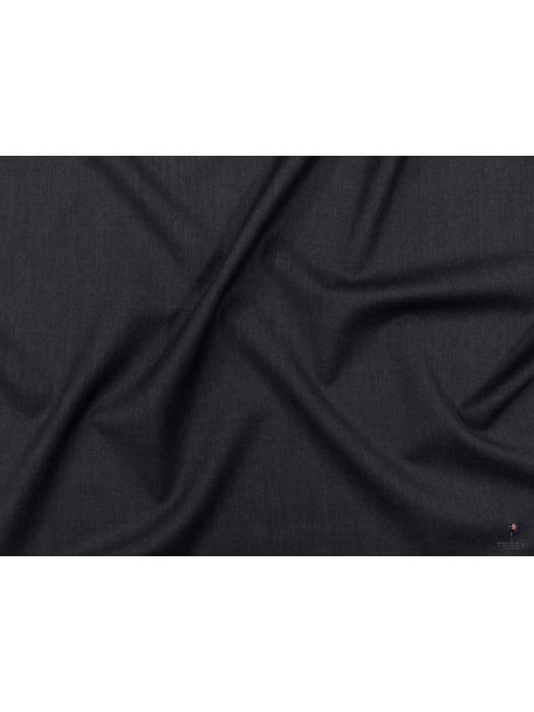 Mt. 3,70 Tessuto Twill in Lana Antracite Made in Italy