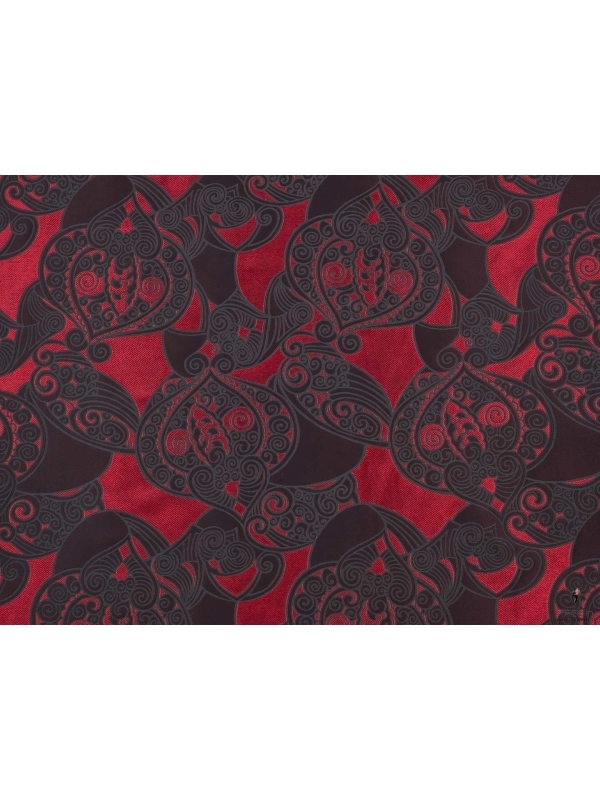 Tessuto Jacquard Double Face Rosso
