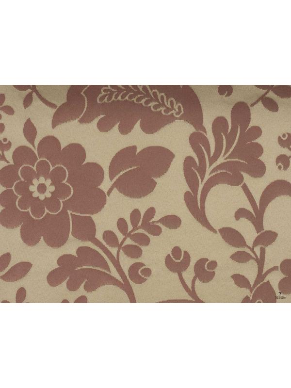 Jacquard Fabric Floral Red - Firenze