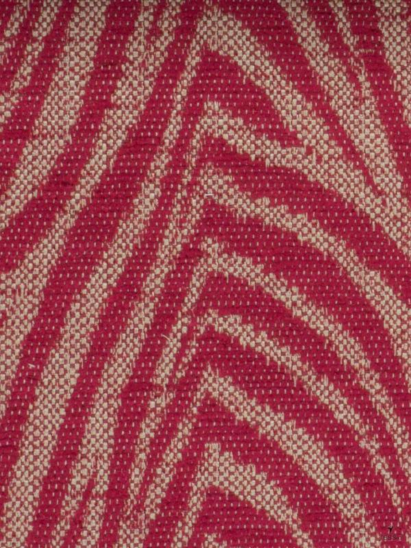 Jacquard Chenille Fabric Red - Firenze