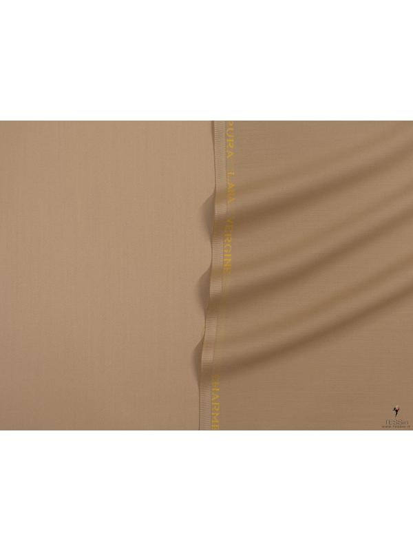 Charmelaine Wool Fabric Camel Made in Italy