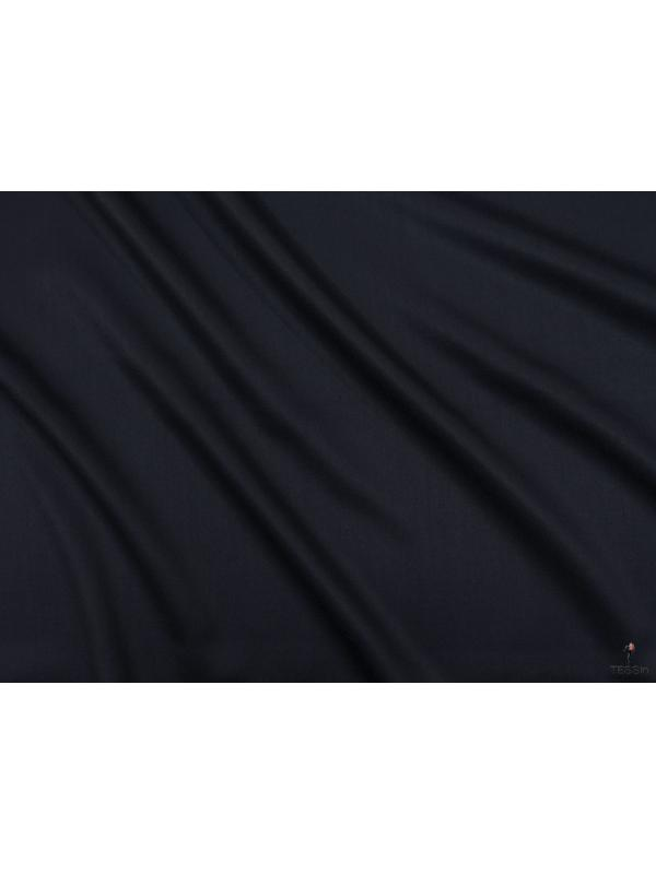 Charmelaine Wool Fabric Night Blue Made in Italy