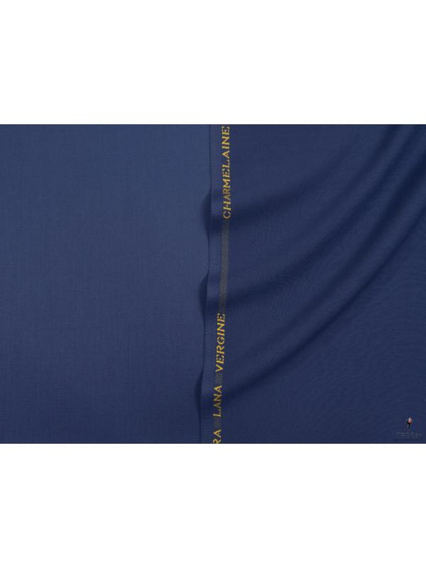 Charmelaine Wool Fabric Blue Depths Made in Italy