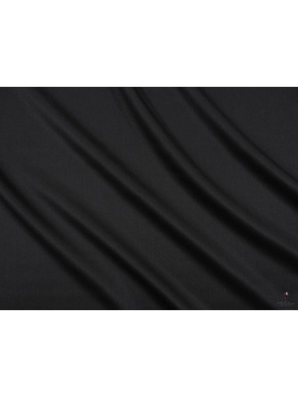 Charmelaine Wool Fabric Black Made in Italy
