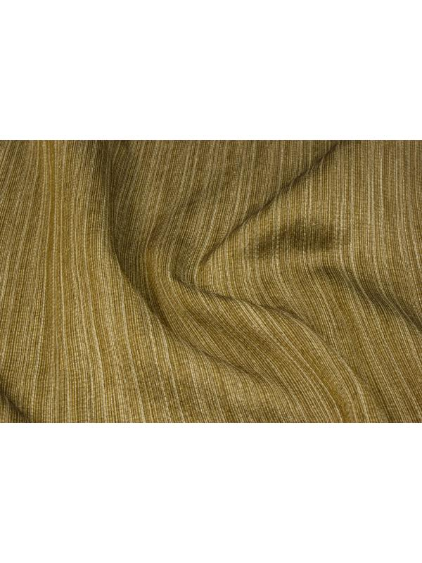 Curtain Silk Blend Fabric Stripes Bronze Gold - Ponson Made in Italy