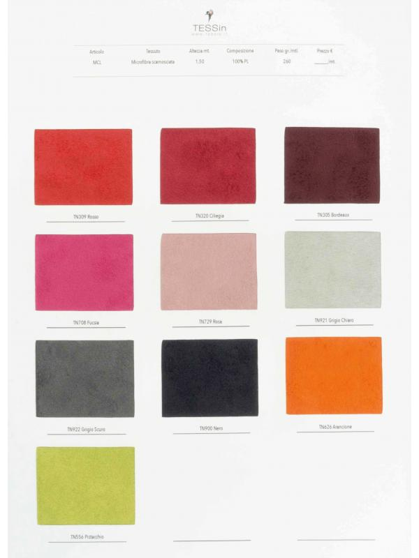 Sample Card Microsuede Fabric - MCL