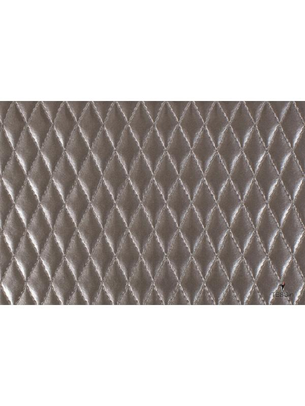 Quilted Leather Fabric Dove Grey