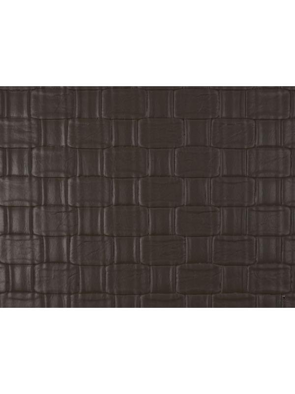 Interwoven Leather Fabric Brown