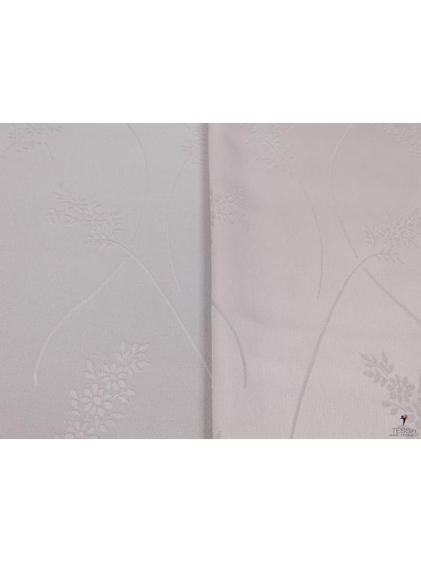 Cady Fabric Double Face Floral Pearl Grey
