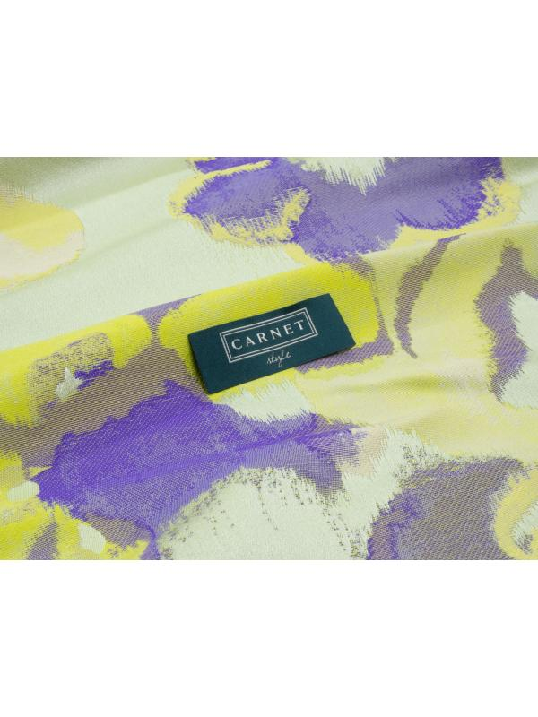Jacquard Fabric Floral Green Lilac - Carnet Style