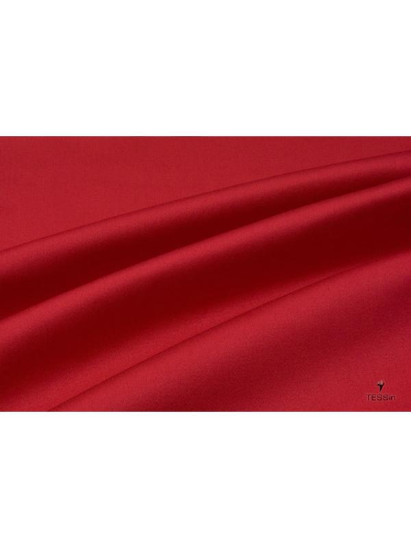 Cotton Sateen Fabric Stretch Red