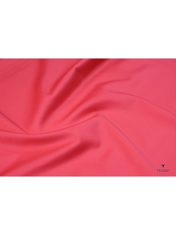 Cotton Sateen Fabric Stretch Coral Pink