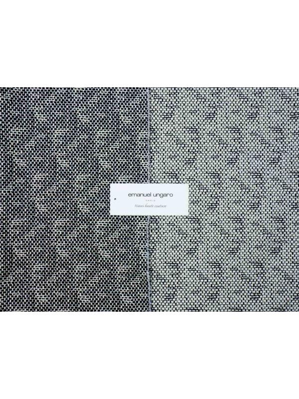 Cotton Stretch Fabric Double Black and White Double Emanuel Ungaro