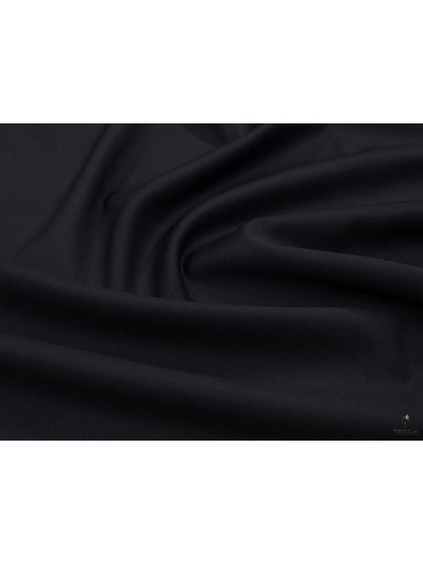 Mtr. 0.8 Super 130's Wool Fabric Night Blue Made in Italy