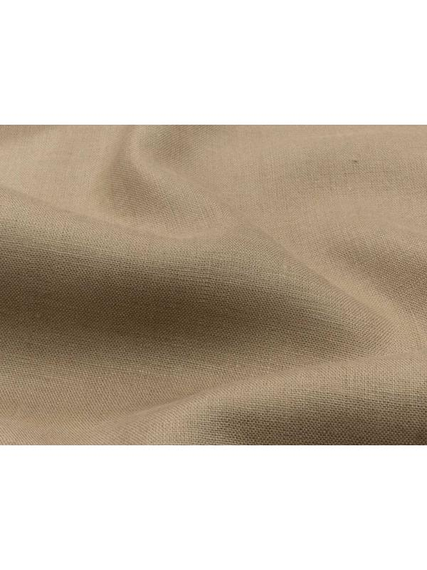 Linen Fabric Nut Brown Made in Italy