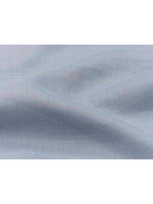 Linen Fabric Powder Blue Made in Italy