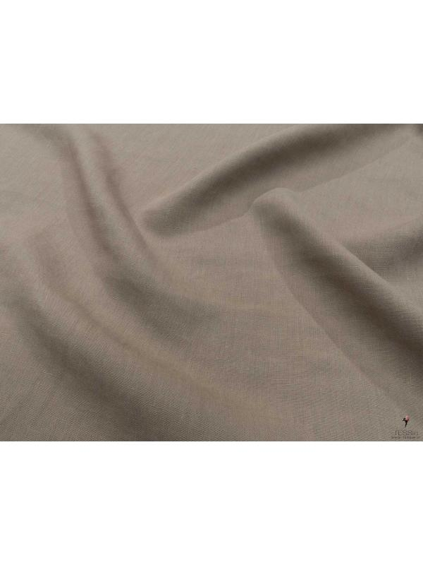 Linen Fabric Light Taupe Soft Finish Made in Italy