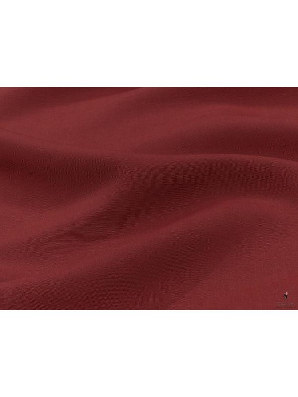 Linen Blend Fabric Vivid Burgundy Made in Italy