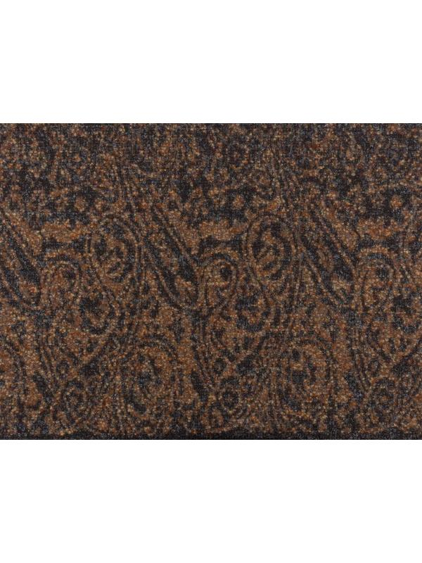 Mtr. 2.40 Double Face Wool Blend Coat Fabric Patterned Coffee Bronw Rust Orange