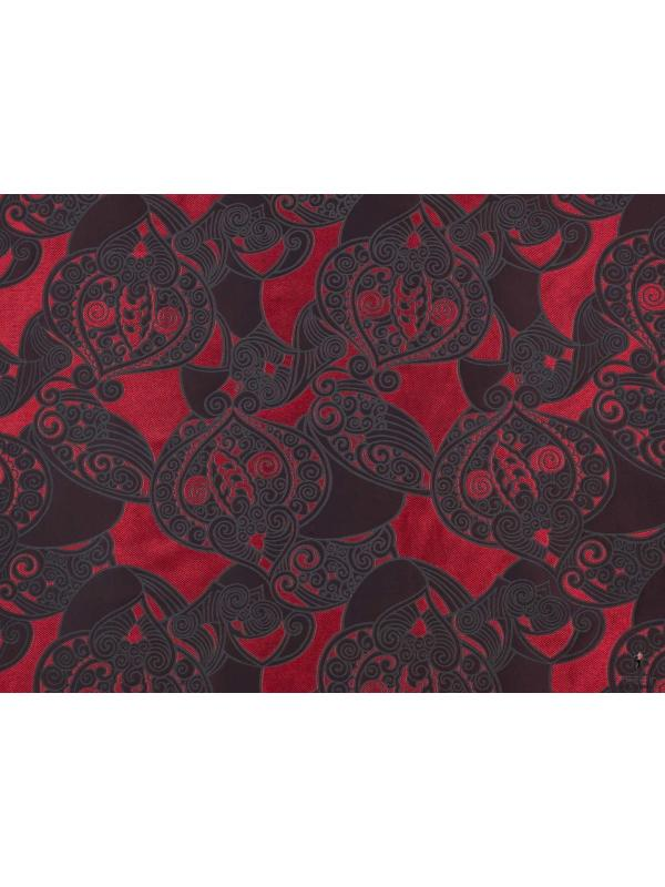 Jacquard Double Face Fabric Red Made in Italy