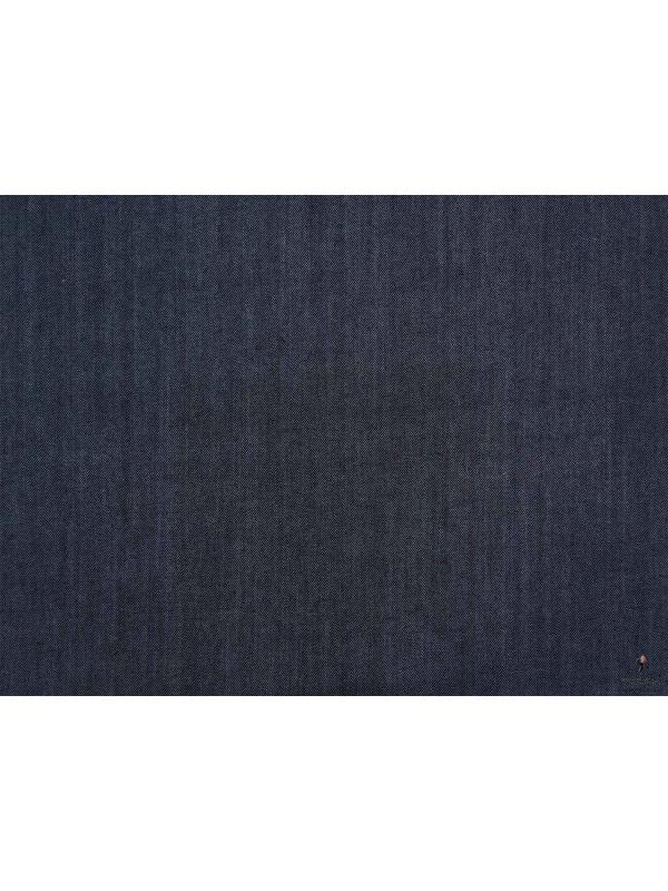 0.80 Washed Stretch Jeans Fabric Dark Denim Blue - Made in Japan