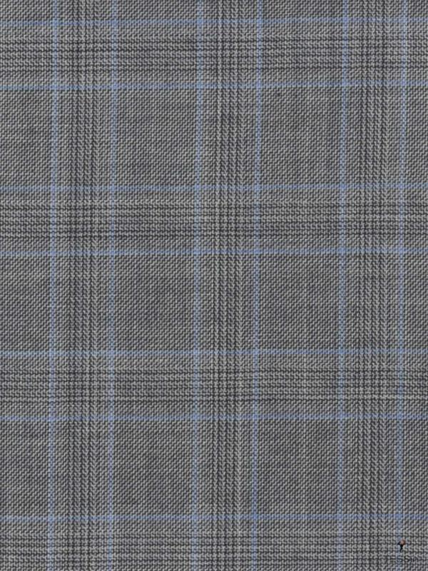 Connoisseur Fabric Prince of Wales Blue Guabello 1815