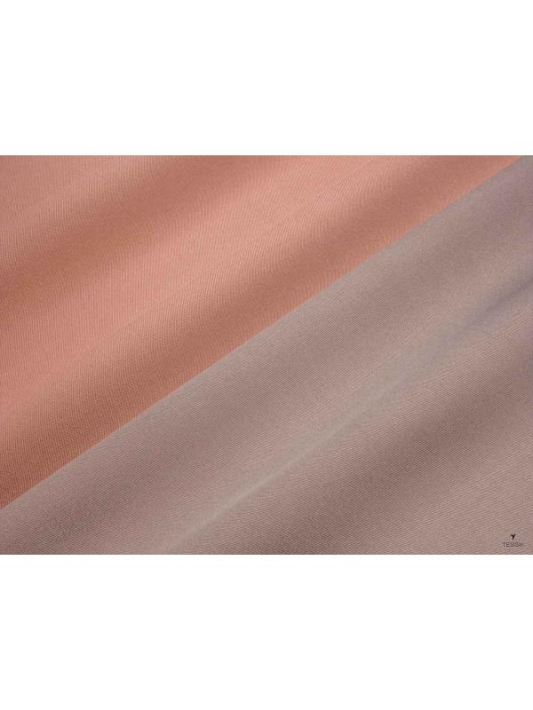 Double Face Pure Silk Mikado Fabric Skin Pink Nut Brown