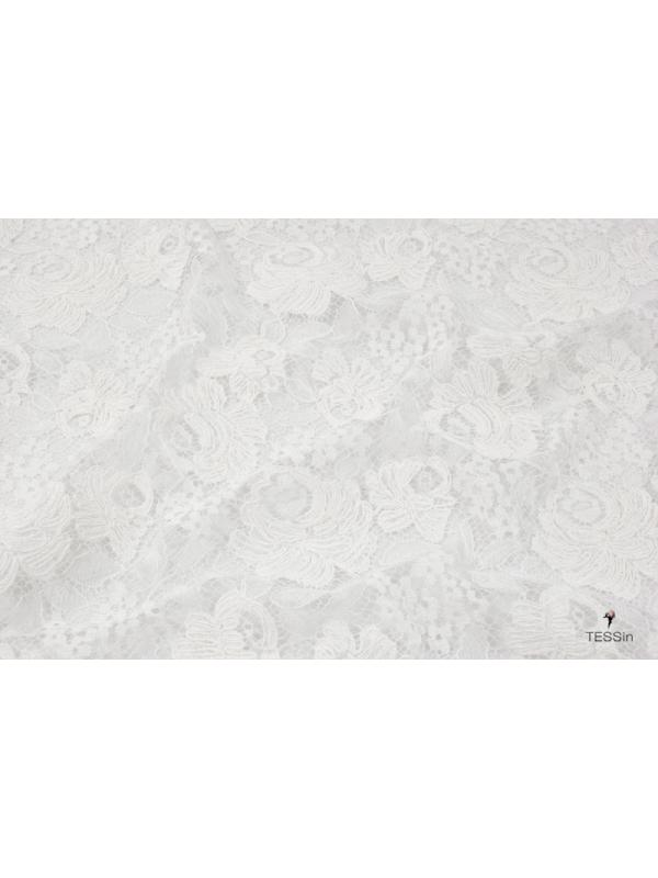Rebrodè Lace Fabric White Made in France