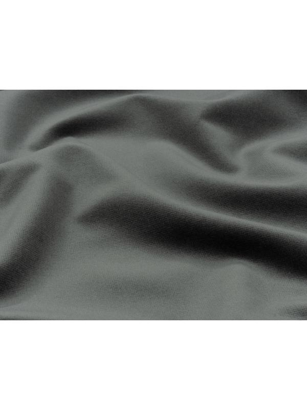 Velvet Fabric Pure Cotton Dark Grey Made in Italy Limited Stock