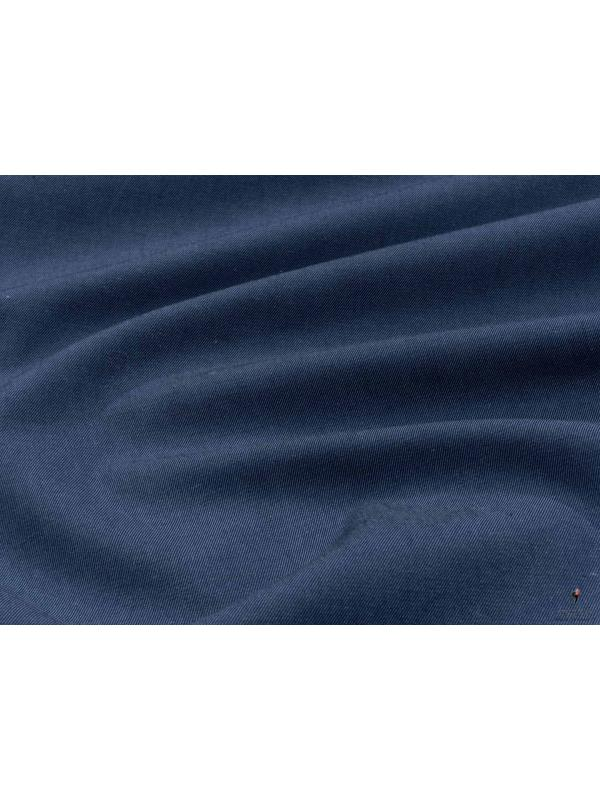 Cotton Twill Yarn Dyed Fabric Coastal Fjord Blue Made in Italy