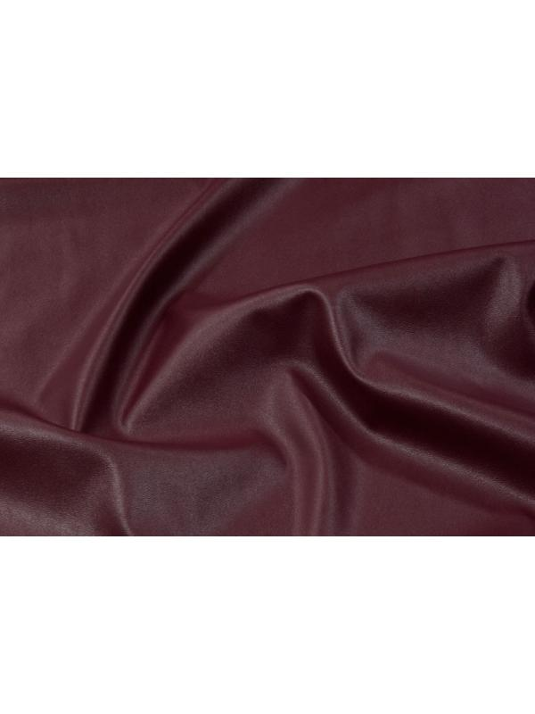 Stretch Leather Fabric Nappa Bottomed Flannel Burgundy
