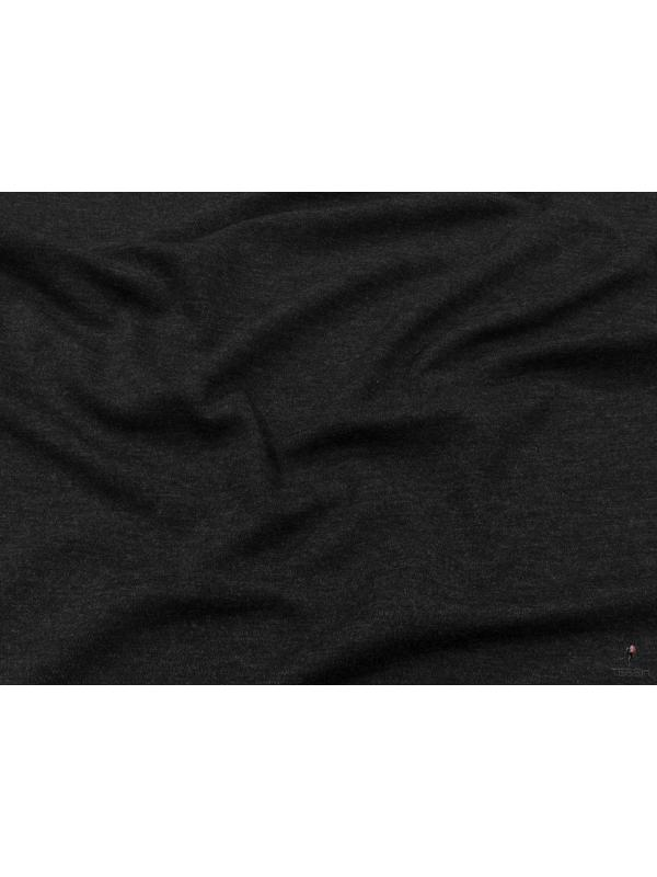 Jersey Pure Wool Fabric Anthracite