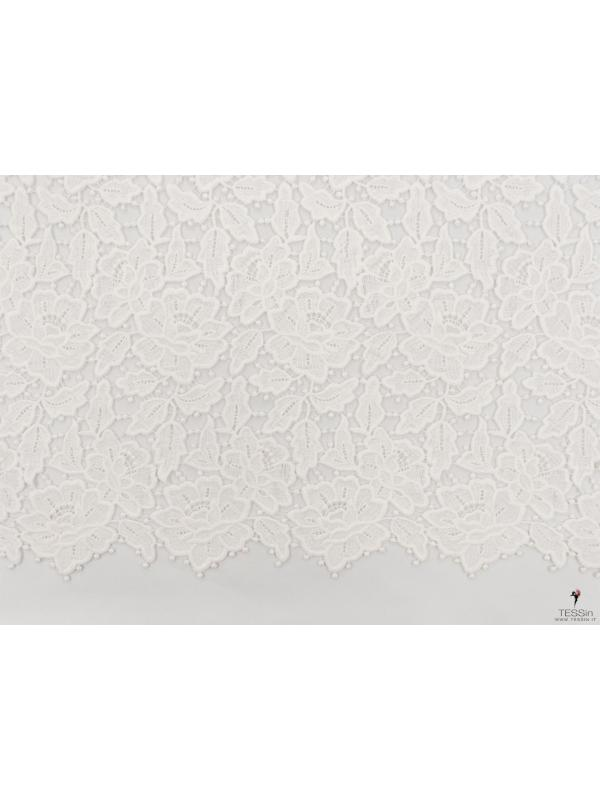 Guipure Lace Fabric Ivory - Made in France