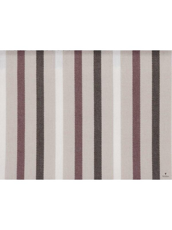 Outdoor Canvas Dralon Waterproof Fabric Multi Stripes Biscuit