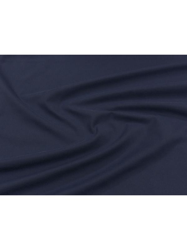 Cotton Twill Yarn Dyed Fabric Navy Blue Made in Italy