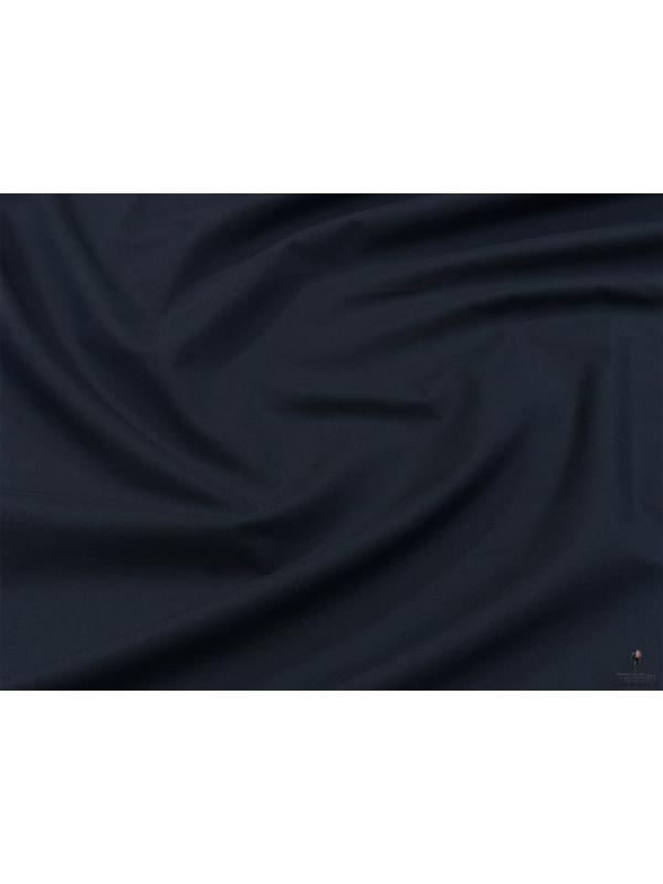 Cotton Twill Yarn Dyed Fabric Dark Blue Made in Italy