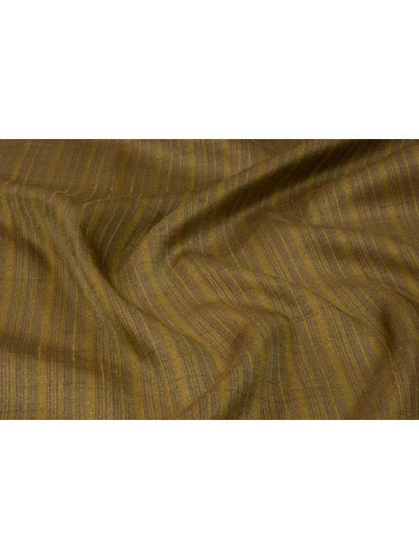Curtain Silk Blend Shantung Fabric Stripes Dove Grey Mustard - Ponson Made in Italy