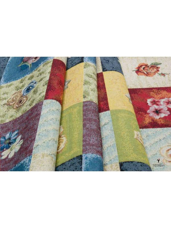 Tapestry Fabric Flowers Nordic-Country