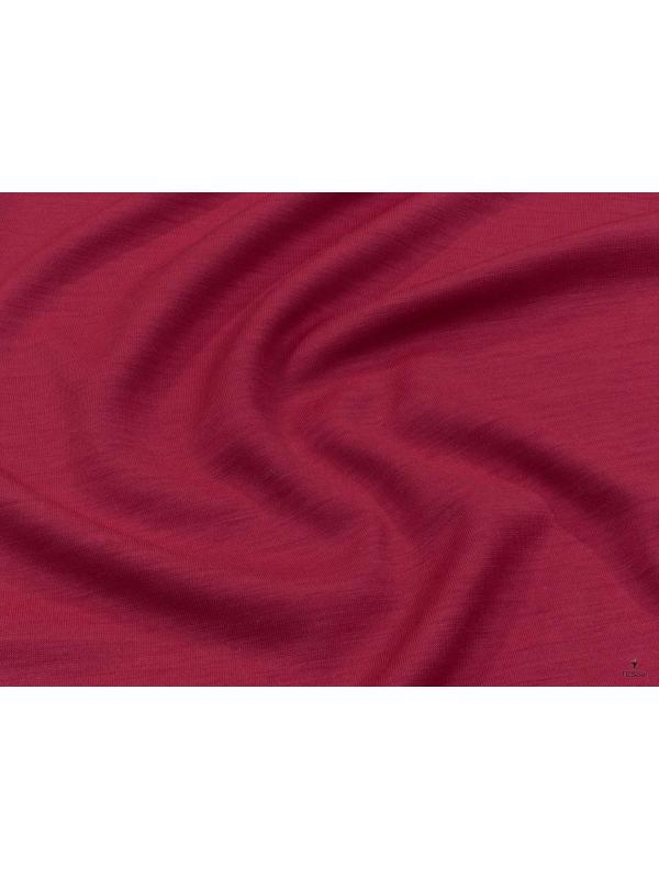 Jersey Pure Wool Fabric 500 Red