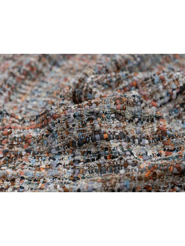 Chanel Fabric Checked Beige Rust Grey