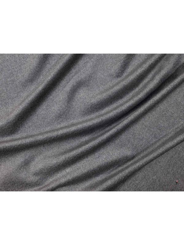 Mtr. 2.50 Pure Cashmere Sable Coat Fabric Grey