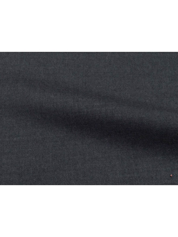 Trofeo Winter Twill Fabric Dark Grey Ermenegildo Zegna
