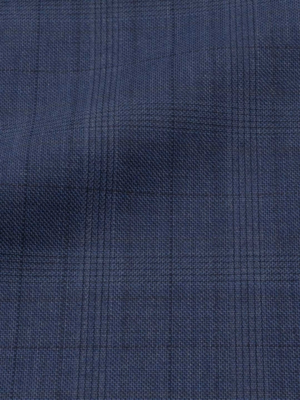 Tessuto Traveller 4 Seasons Principe di Galles True Navy Ermenegildo Zegna
